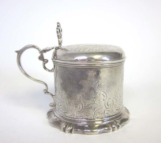 A Victorian  silver mustard pot by Charles Thomas Fox & George Fox, London 1847, together with nine other items (10)