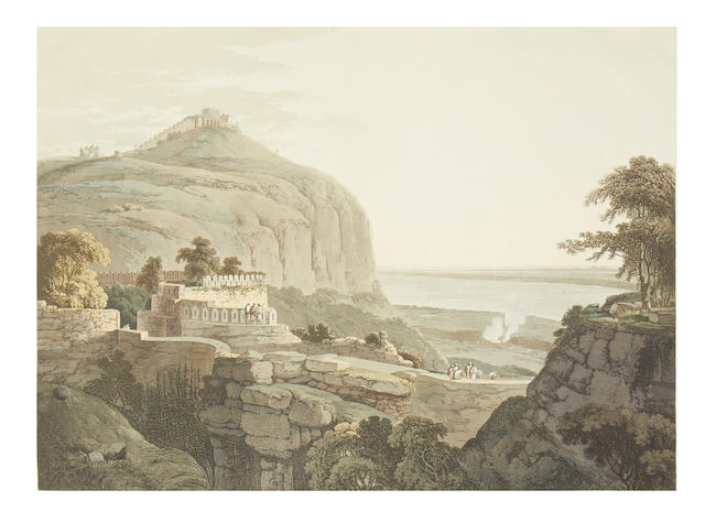 DANIELL (THOMAS and WILLIAM) N.W. View of Rotas Ghur, Bahar, 1796