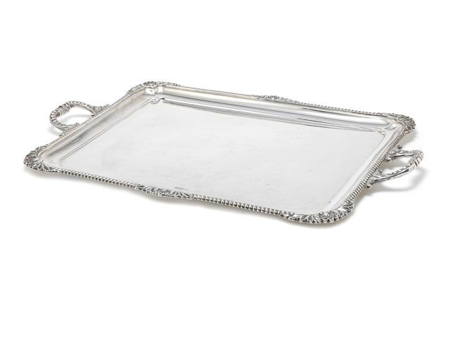 An Edwardian silver two-handled tray by Philip Hanson Abbot, Sheffield 1908