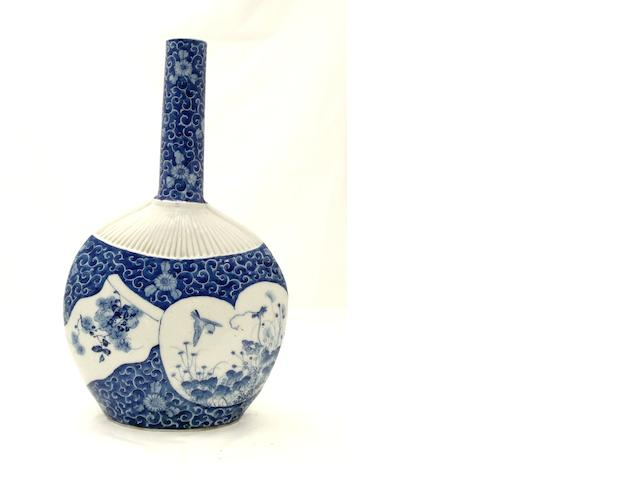 A Hirado bottle vase Meiji