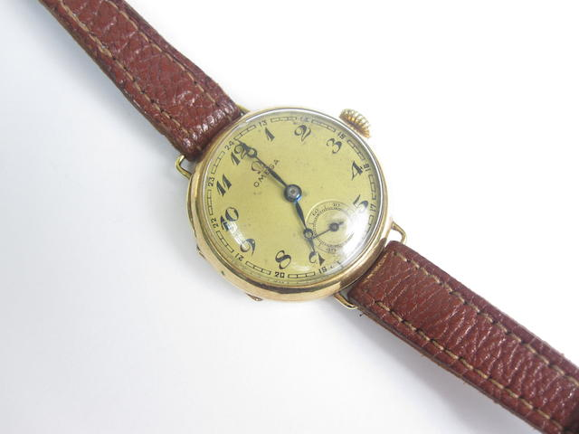 A 14ct Omega lady's wrist watch, 1920s