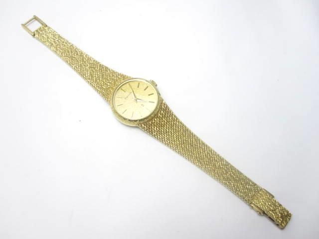 A lady's 18ct gold wristwatch, by Mappin and Webb