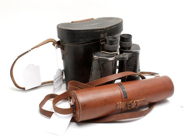 A group of binoculars