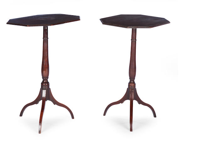 A pair of Regency mahogany occasional tables