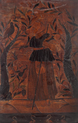 A pair of German or Flemish marquetry panels, probably late 17th century