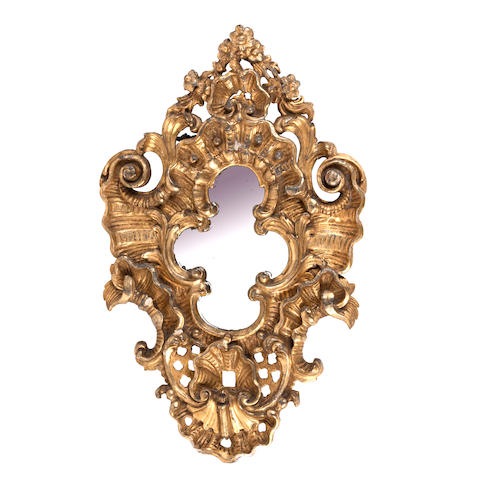 A 19th century Italian carved giltwood and gesso mirror