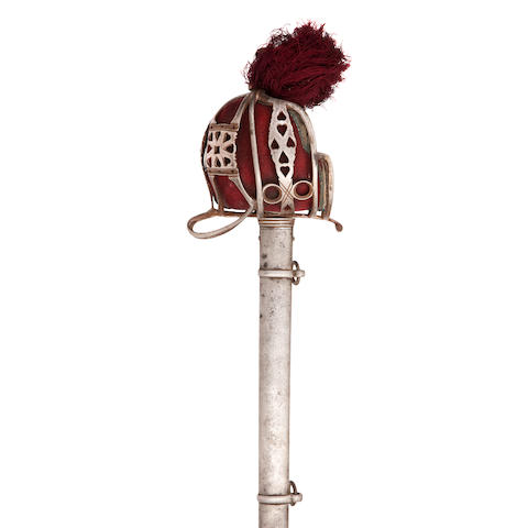 A Victorian Scottish officer's basket hilt sword