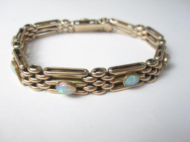 An opal gate bracelet