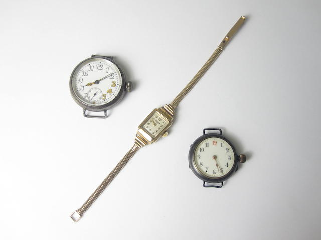 A collection of three watches