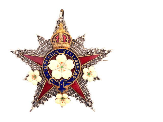 An Edwardian enamel star brooch for The Primrose League