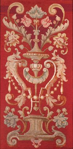A Victorian needlework banner