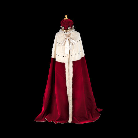 The Coronation robe and Coronet for Lord Deramore for the 1902 Coronation of Edward VII
