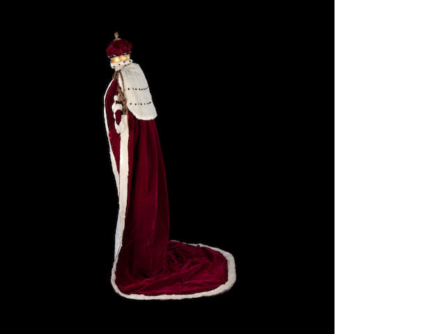 The Coronation robe and Coronet probably for Dowager Lady Mowbray and Stourton for the 1902 Coronation of Edward VII