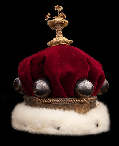 "A Peers or Peeress' Coronation Coronet of small proportions the ""pearls"" stamped with a lion passant"