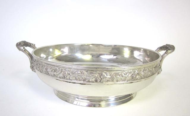 A two-handled silver bowl by Edward Barnard & Sons Ltd, London 1949