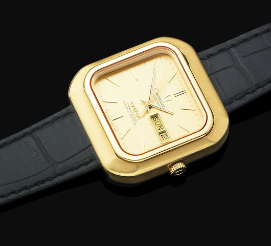 A gentleman's gold Omega 'Constellation' wristwatch