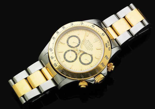 A gentleman's two tone Rolex 'Daytona' bracelet watch,