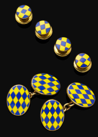 An enamel dress-set, by Deakin & Francis
