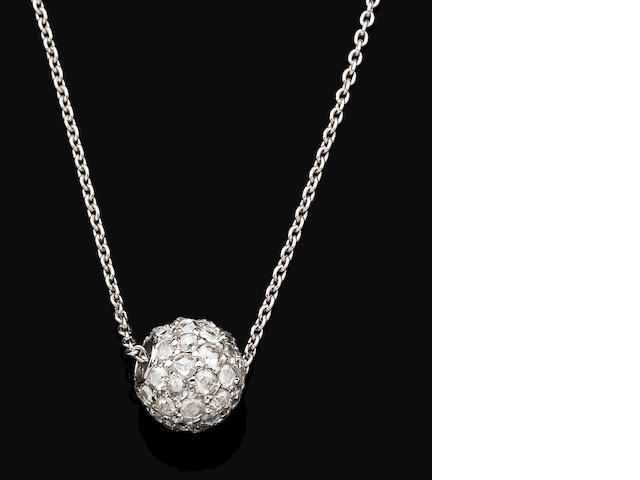 A diamond-set pendent necklace