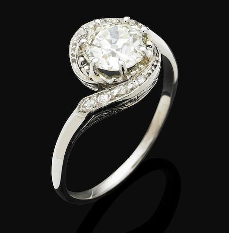 An Edwardian diamond ring,