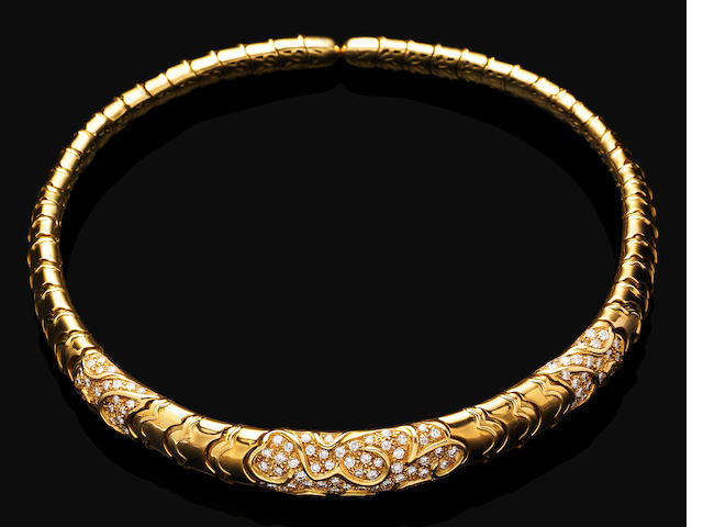 A diamond-set 'Ecumes' collar, by Marina B