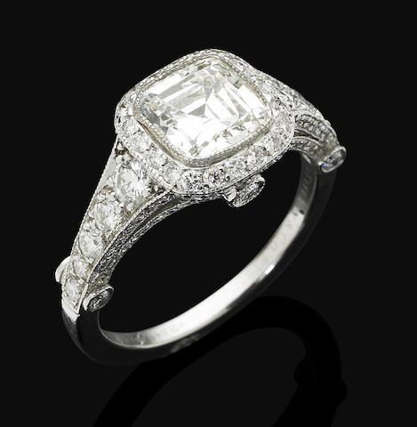 A diamond 'Legacy' ring, by Tiffany & Co.