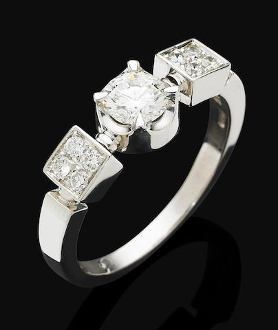 A diamond 'Allegra' ring,  by Bulgari