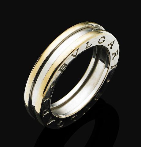 A bi-coloured gold 'B.ZERO1' ring, by Bulgari