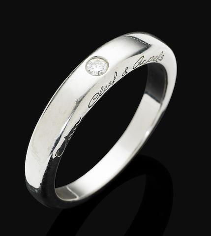 A platinum diamond-set ring, by Van Cleef & Arpels