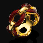 An enamel ring, by Cartier,