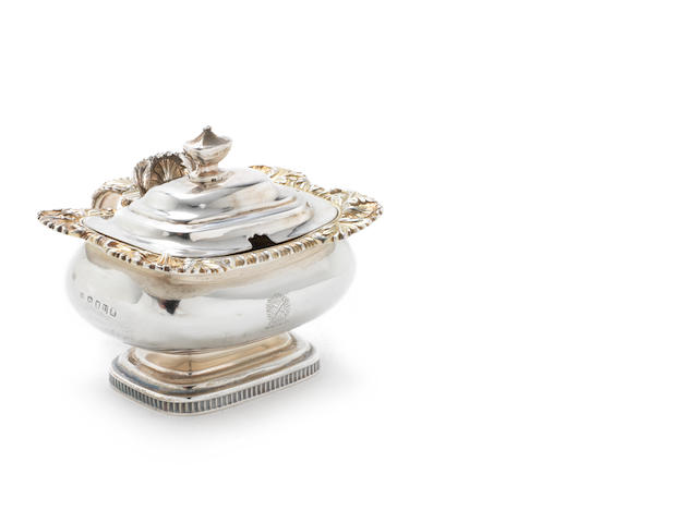 A George III silver  mustard pot by Charles Price, London 1815  (3)