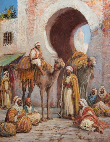 Arthur Trevor Haddon (British, 1864-1941) At the gates of the medina