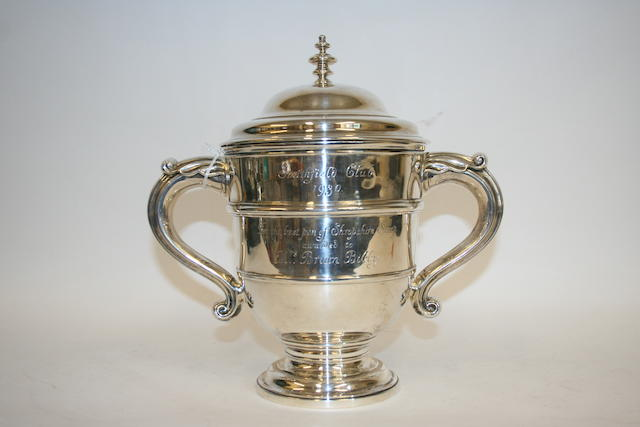 A silver trophy cup and cover by Henry Vander and Arthur Vander London 1930,
