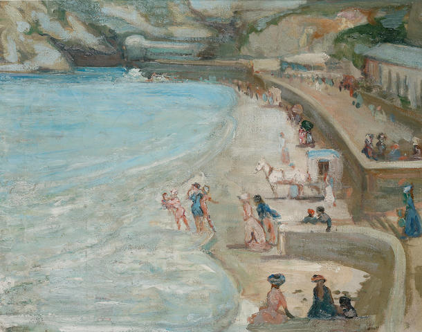 Charles  Conder (1868-1909) Beach at Newquay c.1906