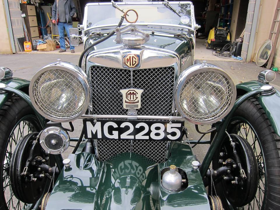 1933 MG Midget J2/J4 Sports  Chassis no. J 0483 Engine no. 1608 AJ