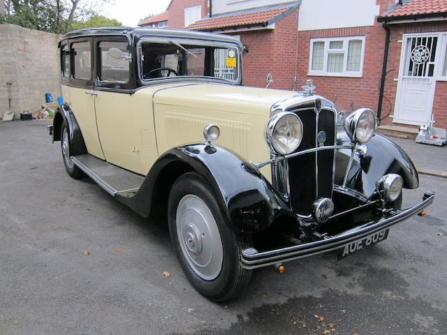 1934 Morris Isis Saloon, Chassis no. 34/1/7329 Engine no. JK 17122