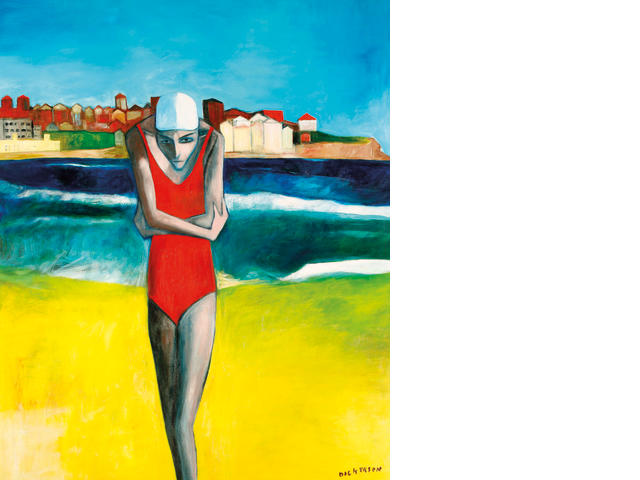 Robert Dickerson (born 1924) Woman at Bondi Beach 1996