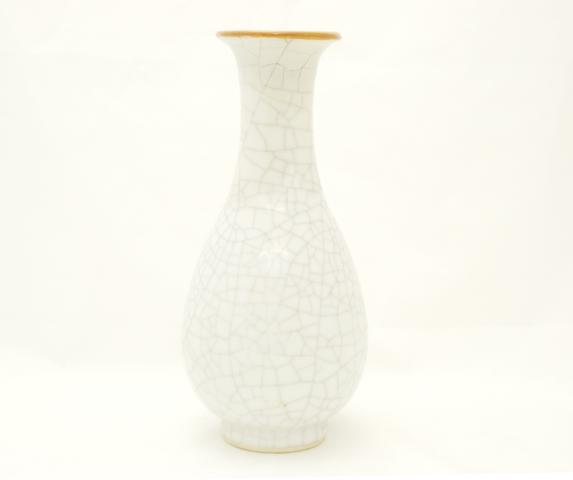 A crackle ware slender baluster vase 19th century