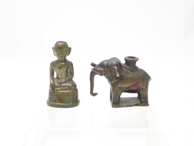 A small Burmese seated Buddha