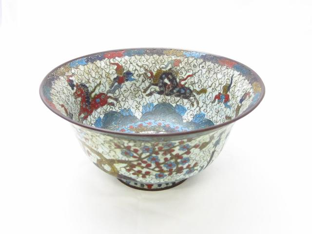 A cloisonné bowl Early 19th century