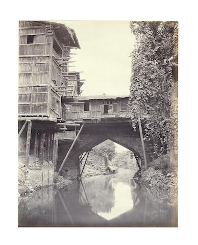 DALHOUSIE, SRINIGAR and SIMLA Album of 24 views, including 7 signed in the negative by Bourne, and 3 by Payne, [c.1880]