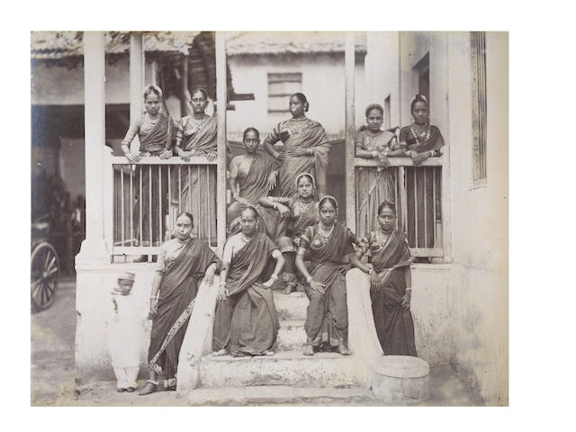 BENARES, CALCUTTA and PORTRAITS Album of 32 views and 28 types and trades, [c.1880]
