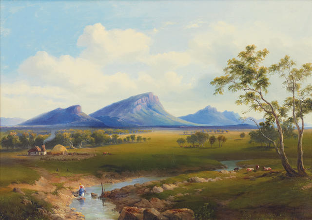 Nicholas Chevalier (1828-1902) Mount Abrupt and the Grampians 1863
