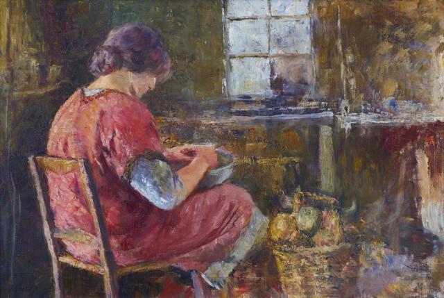 Frederick McCubbin (1855-1917) Shelling Peas c.1913