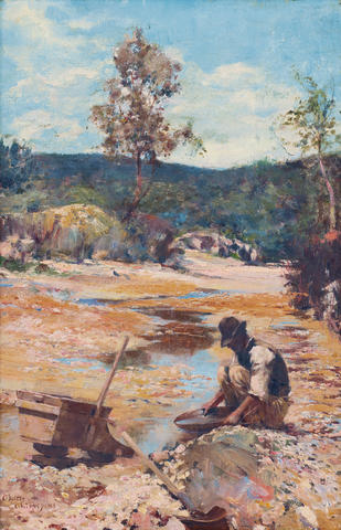 Walter  Withers (1854-1914) Panning for Gold 1893