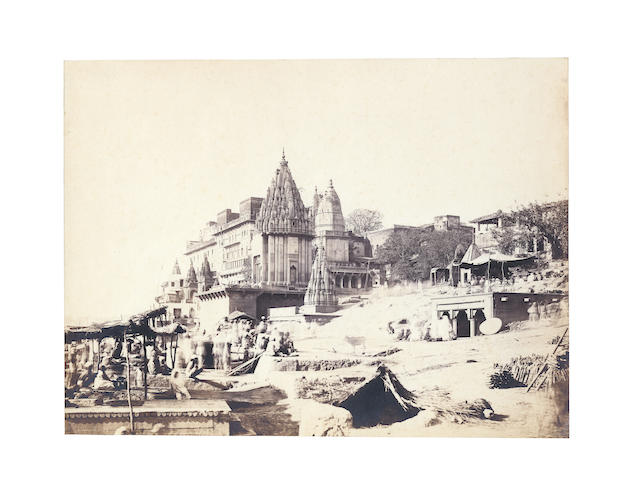 BENARES A good view of Benares showing Dasaswamedh Ghat, [c.1875]