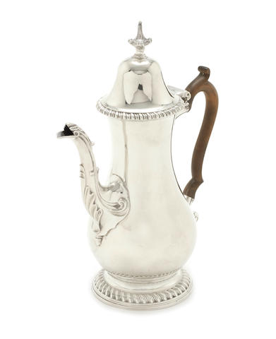 A George III silver coffee pot by William Abdy, London 1771