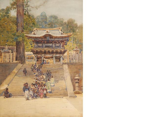 Robert Weir Allan, RSA RWS RSW (British, 1852-1942) Yomeiman Gate, Nikko, Japan