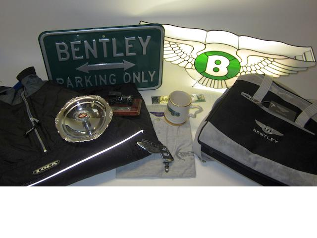 A lot of Bentley collectables,
