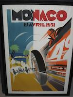 A collection of reproduction Monaco Grand Prix posters,